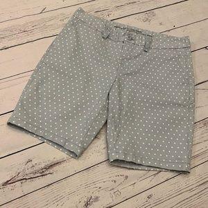 Gap Khaki City Bermuda Shorts Polka Dots Size 6